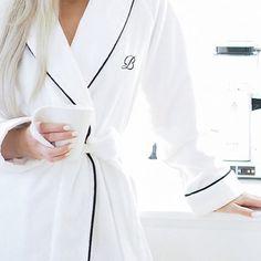 Home sweet home & Balmuir luxury Portofino robe...best together on grey…