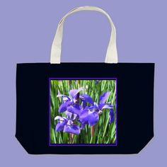 Purple Irises Tote Bag from Zazzle.com