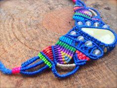 Unique and colorful Macrame Bracelet Necklace by RitaPratesCaetano, €52.00