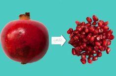 Come estrarre facilmente i chicchi del melograno o spremerli in uno squisito succo di frutta.
