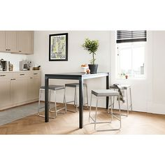 Parsons Counter Table with Collins Stools
