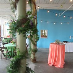 Carey Roberts Design, floral, flower arrangement, design, wedding, event, garland, peach