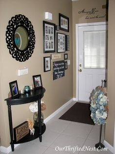 Our Thrifted Nest Blog: Sentimental Country-Chic Entry Way Decor
