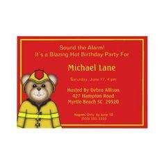 Firefighter Birthday Party  Invitations by babyworld