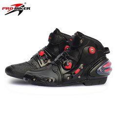 c245c1de50 PRO-BIKER Motorcycle Boots SPEED BIKERS Black Men Moto Shoes Moto Motocross  Boots Breathable Racing