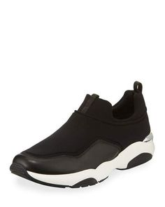 Giolly Leather & Neoprene Slip-On Sneaker