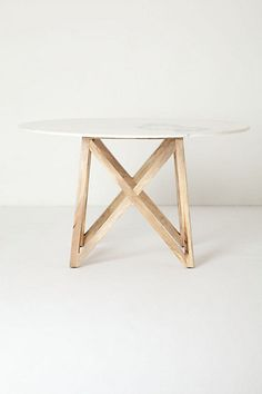 Marble Flyspeck Round Table #anthropologie