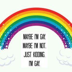 #lgbt #pride just kidding I'm gay asf