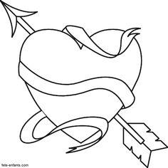 dessin à colorier pour la saint valentin - Recherche Google
