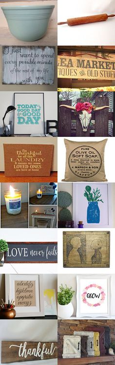 Fixer Upper Inspired Home Decor by Sean on Etsy--Pinned+with+TreasuryPin.com
