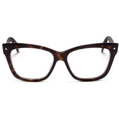 fb2355b777d93 Dior Tortoiseshell squared cat eye optical glasses found on Polyvore  featuring a - Dior Eyeglasses -