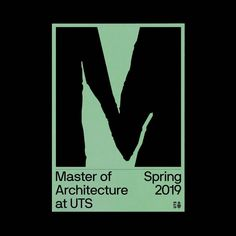 #repost from @oclh_sydney  Masters folders for UTS Architecture, Spring 2019. / We create designs people love at tegra.co growth agency Type Posters, Poster Ads, Cultural Identity, Visual Identity, Identity Branding, Spring Architecture, Print Design, Logo Design, Typographic Poster