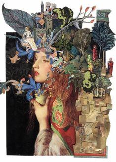 Retro-Futuristic Magazine Collage Art by Ben Giles