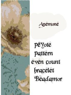 Peyote Pattern for bracelet: Anemone- INSTANT DOWNLOAD pdf by Beadamor on Etsy