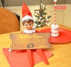 10 hysterical new Elf on the Shelf ideas Elf on the shelf Polar Express ticket Polar Express Tickets, Shelf Inspiration, Elf On The Self, Homemade Fudge, Naughty Elf, Buddy The Elf, Christmas Elf, Christmas Ideas, Christmas Decorations