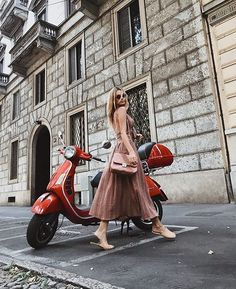 Vroom vroom in our Natural Feels set. Shop link in bio. Piaggio Scooter, Vespa Lambretta, Vespa Scooters, Vespa Girl, Scooter Girl, Motorcycle Style, Biker Style, Red Vespa, Italian Scooter