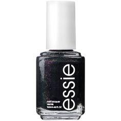 essie Winter 2015 Nail Polish ($8.50) ❤ liked on Polyvore featuring beauty products, nail care, nail polish, black, essie nail color, essie nail polish, essie, military fashion and black nail polish