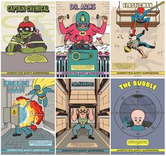Superheroes Safety Campaign on Pantone Canvas Gallery