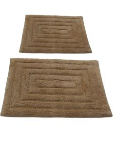 Irving 2 Piece 100% Cotton Racetrack Spray Latex Bath Rug Set