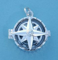 The Compass Rose Silver Compass Locket is a perfect and unique gift to give your loved one on Valentine's Day.  Buy this today for only $65 and have it custom engraved!