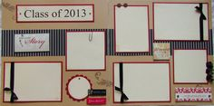 CLaSS of 2014 12x12 Premade Scrapbook Pages  by JourneysOfJoy, $15.00