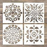 GSS Designs Pack of 4 Wall Stencils Inch Laser Cutting Tiles Stencil Templat. GSS Designs Pack of 4 Wall Stencils Inch Laser Cutting Tiles Stencil Template for DIY Home Dec Stencil Templates, Stencil Patterns, Stencil Designs, Paint Designs, Tile Crafts, Fabric Crafts, Wall And Floor Tiles, Wall Tiles, Craft Robo