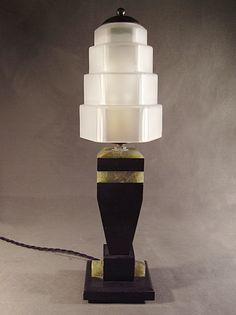 LAMPE CUBISTE MODERNISTE ART DECO SKYSCRAPER GRATTE-CIEL 1930 | eBay