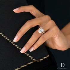 Our Two-Tone CHELSEA design with Platinum prongs and an La force féminine. Our Two-Tone CHELSEA design with Platinum prongs and an … Dream Engagement Rings, Designer Engagement Rings, Rose Gold Engagement Ring, Engagement Ring Settings, Vintage Engagement Rings, Engagement Ideas, Halo Engagement, Curved Wedding Band, Diamond Wedding Bands