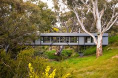 An idyllic site of winter creek, billabong, large river red gums, dense wattles and rocky banks called for a house that would 'touch the earth lightly'. The ...