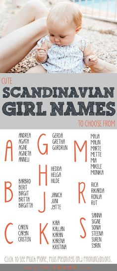 Cute Scandinavian Names To Choose From New and Old Scandinavian names for baby boys and girls. Meanings are also included. Pin it. Indian Baby Names, Baby Girl Names, Baby Boy Rooms, Boy Names, Baby Boys, City Names For Babies, Old Girl Names, Scandinavian Baby Names, Scandinavian Countries