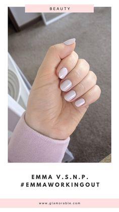 Emma V.S.N.P. #EmmaWorkingOut Pale Lilac nail polish swatch