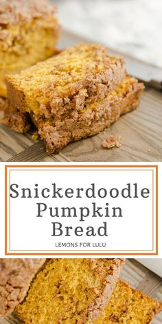 Soft, tender pumpkin bread has a ribbon of cinnamon running throughout and then coated in a crumbly cinnamon topping. This pumpkin bread recipe is a family favorite! It never disappoints! You are going to love the aroma that fills your house while it is baking! Healthy Banana Bread, Banana Bread Recipes, Canned Pumpkin, Pumpkin Bread, Yummy Snacks, Yummy Food, Bread Toast, Homemade Hot Chocolate, Recipe Steps