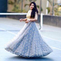 Saree dress Skirt design Choli dress Unique skirts design Lehenga gown Dresses -… - All About Clothes Lehenga Choli Designs, Long Gown Dress, The Dress, Dress Skirt, Indian Designer Outfits, Designer Dresses, Gown Party Wear, Lehenga Gown, Anarkali