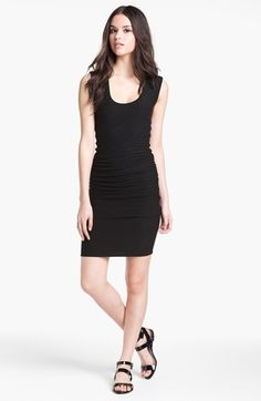 This is the front runner for Laura's purchase.  James Perse Ruched Wide Strap Dress | Nordstrom