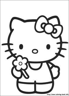 Hello Kitty Pictures To Color Free Printable Hello Kitty Hello Coloring Pages