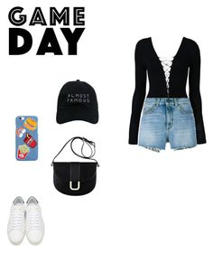 """""""Game Day."""" by roci28 ❤ liked on Polyvore featuring T By Alexander Wang, Yves Saint Laurent, A.P.C. and Nasaseasons"""