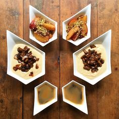 Wednesday: Cardamom flavoured cream of wheat with candied chestnuts, a side of oven roasted plums with pistachio and a double espresso 🙌🏼 Served in awesome bowls from @reikokanekoltd ------------------------------ Have a great hump day y'all 😘😘😘 #symmetrybreakfast