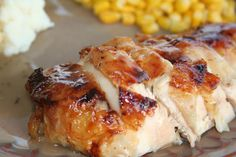 Honey Roasted Chicken ohsweetbasil.com