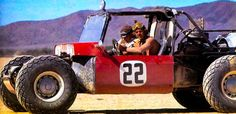 """Steve McQueen + The 450hp Dune Buggy. This is the """"Baja Boot"""", 450hp, 4×4 Dune Buggy built by Vic Hickey. Due to GM's No-Racing Policy Hickey & Drino Miller built the Baja Boot in 26 days under the cover of darkness in Hurst, Michigan. With a space frame chassis built of steel tubing & a 350ci V8 engine inserted backwards to facilitate the unique 4×4 system. http://silodrome.com/steve-mcqueen-450hp-baja-boot-dune-buggy/"""