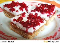 Rybízový koláč recept - TopRecepty.cz Cheesecake, Food And Drink, Baking, Recipes, Anna, Basket, Cheesecakes, Bakken, Recipies