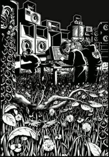 Techno Artists, Music Artists, Techno Mix, Sound Wall, Ink Pen Art, Techno Party, Rave Music, Music And Movement, Psychedelic Art