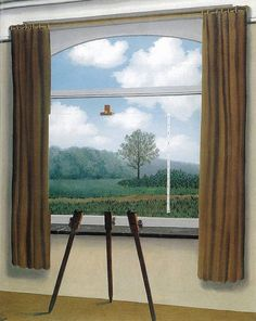 Rene Magritte's The human condition, 1933.