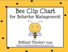 Behavior chart  with bees | Nocturnal Animals Pack - Brittani Tinsley - TeachersPayTeachers.com