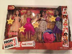 Disney High School Musical  3 Ready 4 Prom Dolls Kelsi Sharpay Gabriella Taylor #Disney