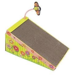 Cats Lovers Kitty Play Ramp Scratcher Reversible Cardboard Cat Scratching Block With Catnip *** You can get more details here : Cat scratching post
