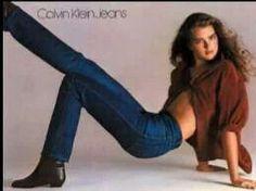 Brooke Shields in Calvin Klein jeans back in the 70's