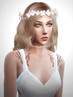 Flowers Hair Accessory at Salem2342 via Sims 4 Updates