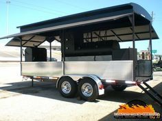 We make custom made bbq pits, grills, smokers, and trailers in all shapes and sizes. Pits by JJ in one of the best hand made bbq pit manufacturers in the USA. Bbq Smoker Trailer, Bbq Pit Smoker, Barbecue Grill, Trailer Smokers, Diy Smoker, Custom Smokers, Foodtrucks Ideas, Custom Bbq Pits, Food Trailer