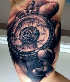 Carl Grace clock Tattoo