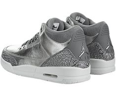 low priced c5fae 11035 Jordan Shoes For Girls · Jordan Nike Womens Air 3 Retro Prem HC  Metallic Silver Cool Grey Basketball